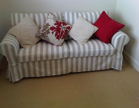 Striped Sofa Cover Blue White Striped Sofa Slipcover For
