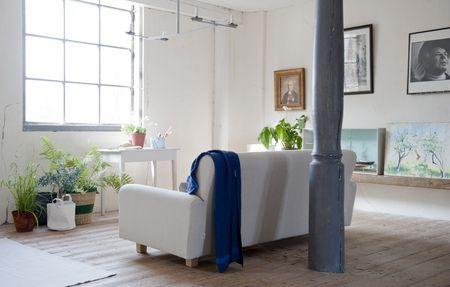 Bemz cover for Nikkala sofa in Sand Beige Belgian Linen Blend