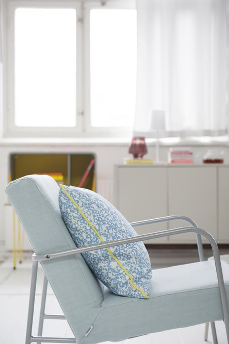 Bemz cover for PS armchair in Duck Egg Brera Lino by Designers Guild