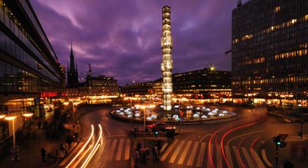 Stockholm night via Flysmaland