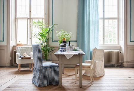 Curtains in Brera Lino Duck Egg by Designers Guild for the Bemz Designers Collection