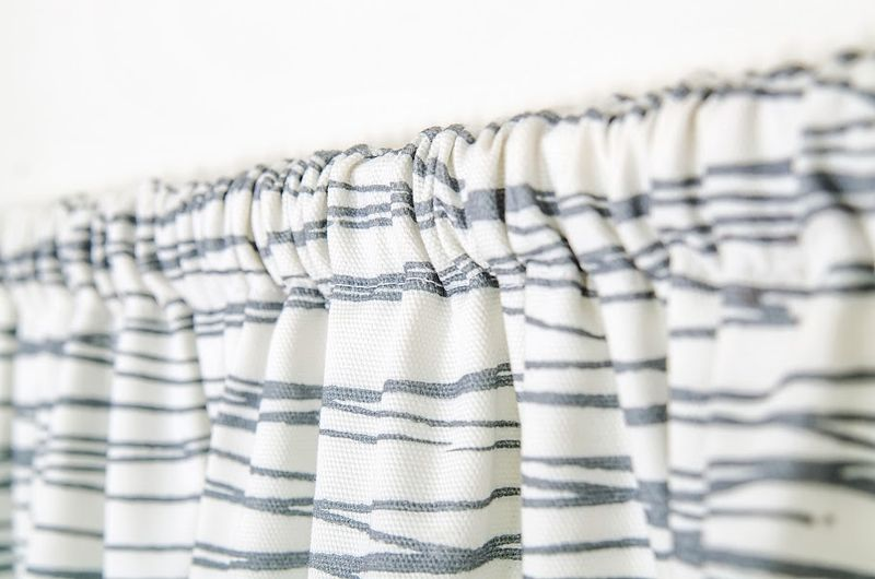 Rod Pocket Curtain in White Japan