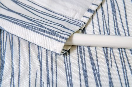 Rod Pocket Curtain in White Japan by Göta Trägårdh