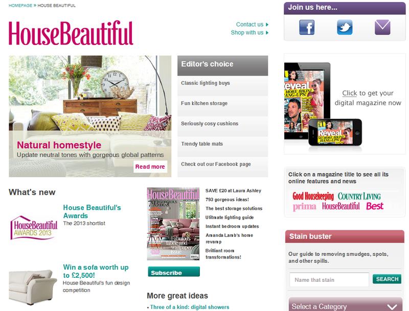 House Beautiful website