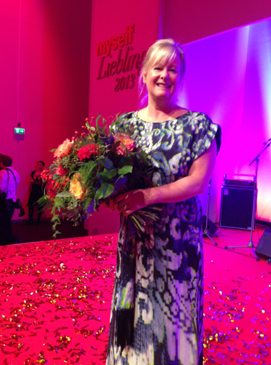 Proud award winner Lesley Pennington, Founder and CEO of Bemz