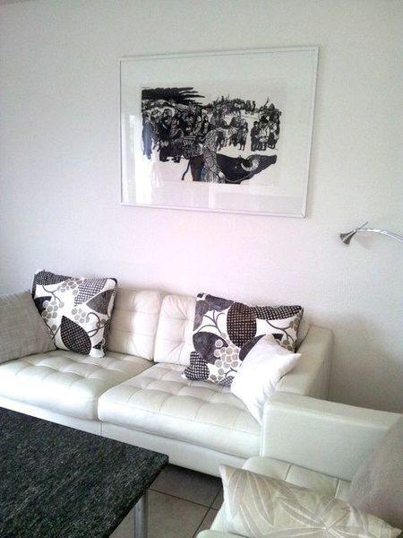 Ecru Barcelona Printed Cotton for Cushion Cover_